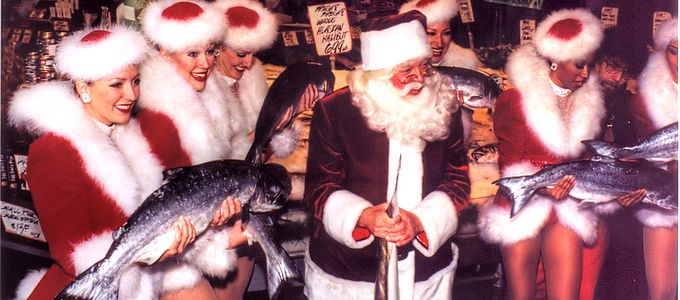 [scan] Santa, Rockettes, and Fish? by Joe Kubitschek, on Flickr - https://www.flickr.com/photos/joekuby/96597381