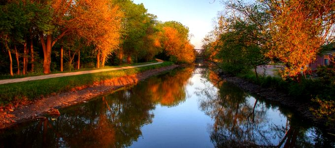 Morning at the Canal in Morris by Kenneth Spencer, on Flickr - https://www.flickr.com/photos/kendo26/8742678567